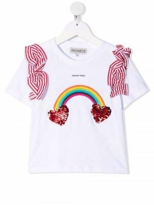 Декорированная футболка Dream Today Simonetta. Цвет: белый