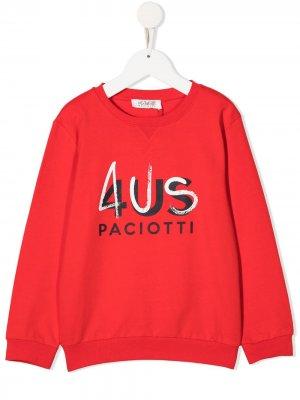 Толстовка с логотипом Cesare Paciotti 4Us Kids. Цвет: красный
