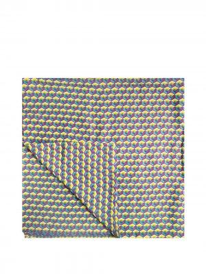 Скатерть с геометричным принтом La Doublej. Цвет: желтый