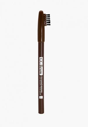 Карандаш для бровей CC Brow. Цвет: коричневый