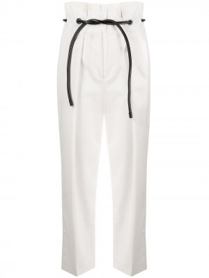 Укороченные брюки с присборенной талией 3.1 Phillip Lim. Цвет: белый