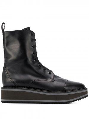 Ботинки British на платформе Clergerie. Цвет: черный