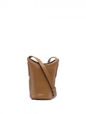 Сумка-ведро размера мини Kenzo. Цвет: коричневый