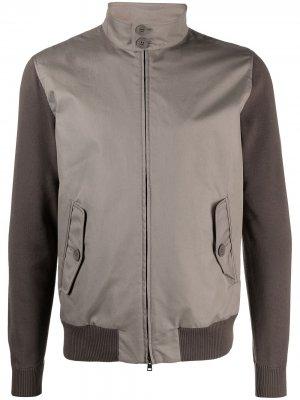 Двухцветная куртка Herno. Цвет: коричневый