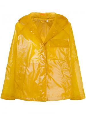 Куртка на молнии с капюшоном Aspesi. Цвет: желтый