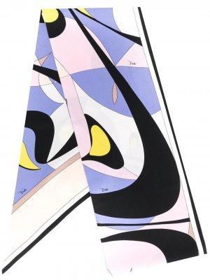 Платок Alex с принтом Emilio Pucci. Цвет: фиолетовый