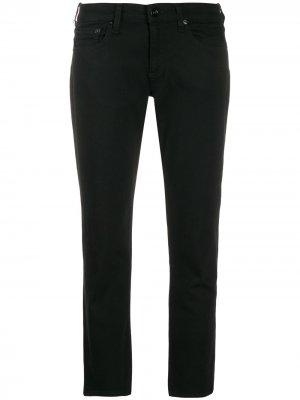 Укороченные брюки кроя слим Rag & Bone. Цвет: черный