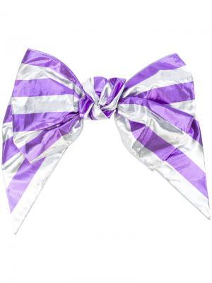 Заколка-бант для волос Alessandra Rich. Цвет: розовый и фиолетовый