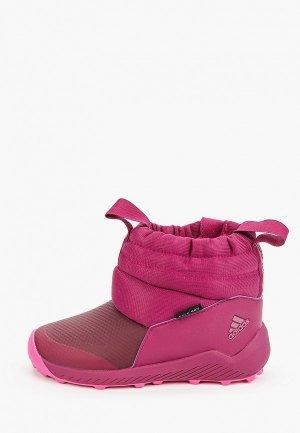 Дутики adidas. Цвет: розовый