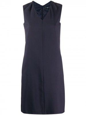 Платье-сарафан прямого кроя Fay. Цвет: синий