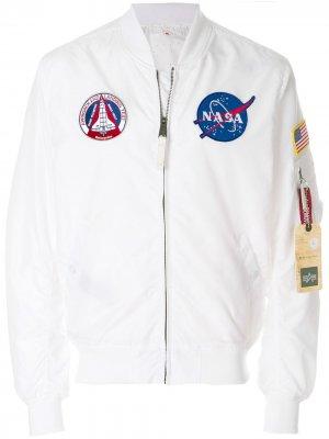 Куртка-бомбер MA-1 Alpha Industries. Цвет: белый