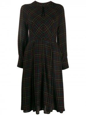 Приталенное платье со складками Talbot Runhof. Цвет: черный