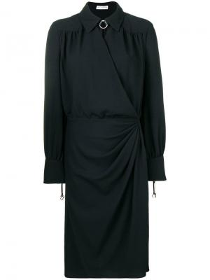 Платье-рубашка с запахом Altuzarra. Цвет: черный