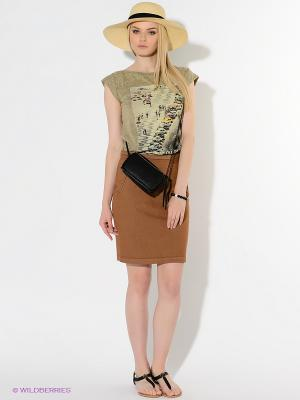 Юбка American Outfitters. Цвет: коричневый