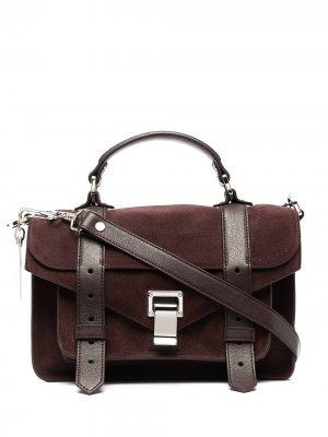 Маленькая сумка-сэтчел PS1 Proenza Schouler. Цвет: красный