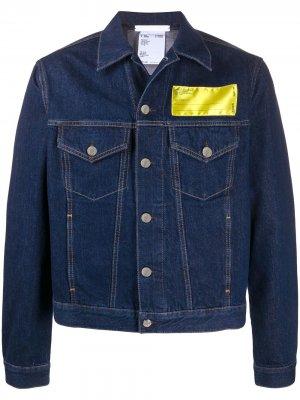Джинсовая куртка Industry Helmut Lang. Цвет: синий
