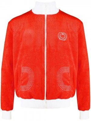 Фактурная спортивная куртка Casablanca. Цвет: оранжевый