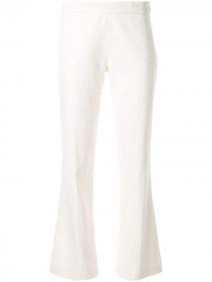 Расклешенные брюки Giambattista Valli. Цвет: белый