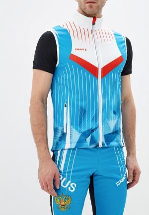 Жилет спортивный Craft. Цвет: голубой