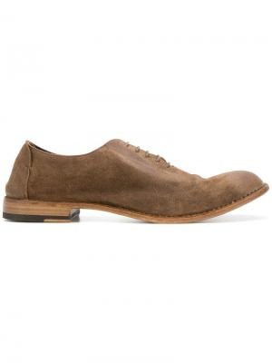 Туфли на шнуровке Pantanetti. Цвет: коричневый