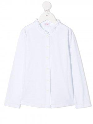 Рубашка с длинными рукавами и оборками Il Gufo. Цвет: белый