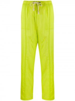 Спортивные брюки прямого кроя с завышенной талией Champion. Цвет: желтый