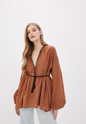 Блуза Pinko. Цвет: коричневый