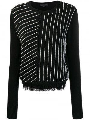 Трикотажный свитер с бусинами Cashmere In Love. Цвет: черный