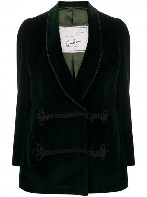 Пиджак с длинными рукавами и застежкой тогл Giuliva Heritage Collection. Цвет: зеленый
