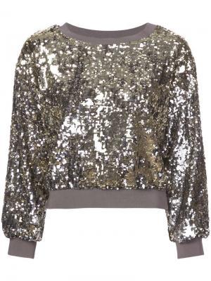 Укороченный свитер Smith Alice+Olivia. Цвет: серый