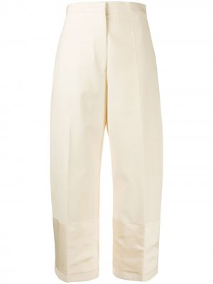 Укороченные строгие брюки прямого кроя Jil Sander. Цвет: нейтральные цвета