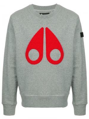Logo sweatshirt Moose Knuckles. Цвет: серый