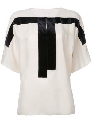Блузка с контрастными панелями Ms Min. Цвет: нейтральные цвета