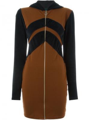 Платье Les Rappieuse Jean Paul Gaultier Vintage. Цвет: коричневый
