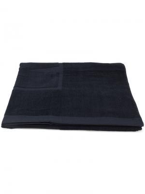 Пляжное полотенце с логотипом MSGM. Цвет: черный