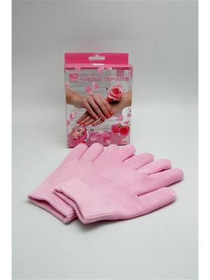 Увлажняющие перчатки GelSmart с экстрактом розы Beauty Style. Цвет: розовый