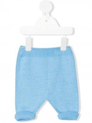 Трикотажные брюки Little Bear. Цвет: синий