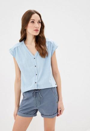 Блуза Roxy. Цвет: голубой