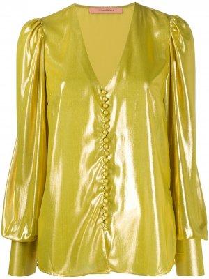Блузка Cecilia с эффектом металлик Andamane. Цвет: золотистый
