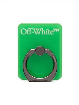 Брелок с логотипом Off-White. Цвет: зеленый