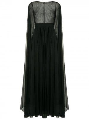 Платье-кейп Flyaway Zuhair Murad. Цвет: черный