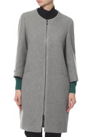 Пальто Peserico. Цвет: серый
