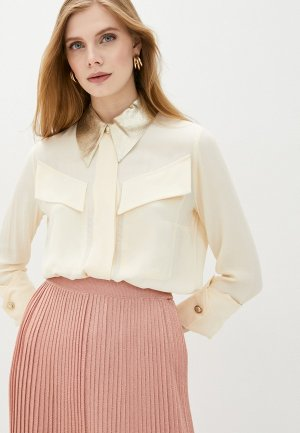 Блуза Elisabetta Franchi. Цвет: бежевый