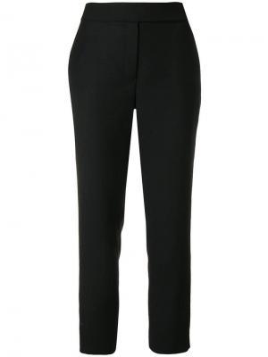 Укороченные классические брюки Osman. Цвет: черный