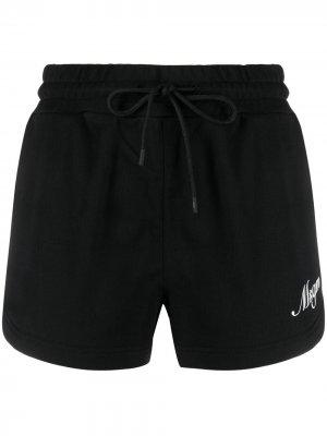 Спортивные шорты с логотипом MSGM. Цвет: черный