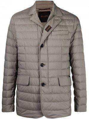 Стеганая куртка на пуговицах Moorer. Цвет: серый