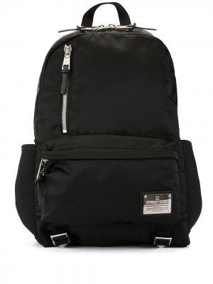 Блестящий рюкзак Makavelic. Цвет: черный