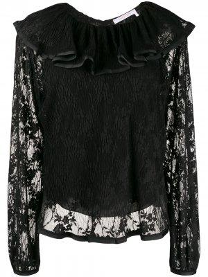 Блузка с оборками на воротнике See by Chloé. Цвет: черный