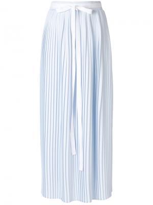 Плиссированная юбка-макси Mm6 Maison Margiela. Цвет: синий