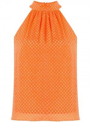 Блузка Liana с геометричным принтом Alice+Olivia. Цвет: оранжевый